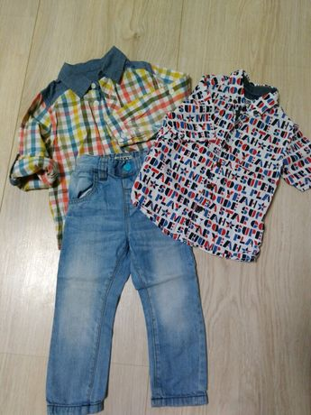 Комплект джинси и реглан рубашка