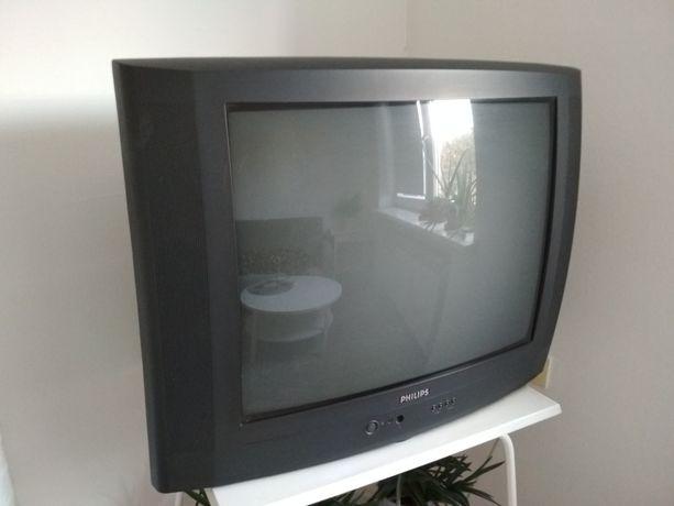 Telewizor z pilotem Philips, stary model, w pełni sprawny