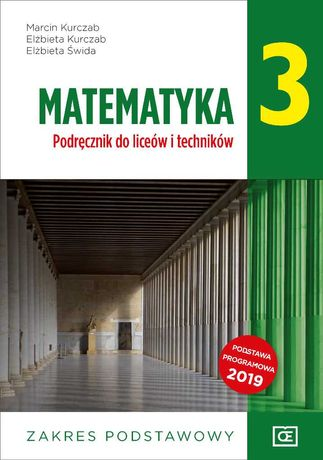 Matematyka 3 podręcznik, NOWY, PODSTAWA, po szkole podstawowej, PAZDRO