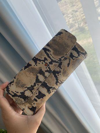 Batycki torebka kopertówka skóra wężowa