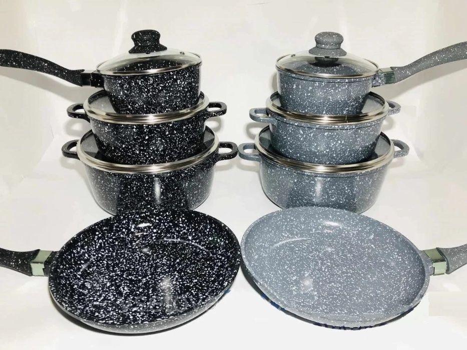 Набір посуду з мармуровим покриттям A-Plus Змеенец - изображение 1