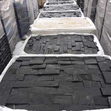 Чорний сланець, плитка,лапша,болгарський камінь,камень натуральний