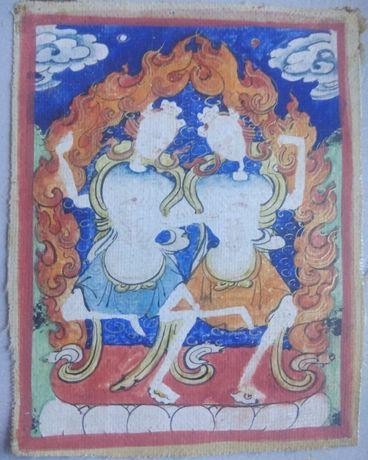 Tybetańska tanka miniaturowa Citipati. 19 wiek