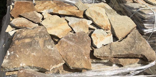 Піщаник жовто-сірий. Природний камінь. Облицювальний камінь