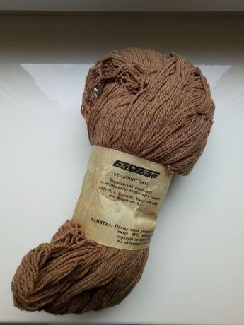 Качественная белорусская пряжа, нитки для вязания полушерсть Баутар