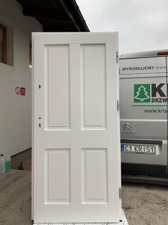 drzwi zwenętrzne białe grube 7 cm od reki