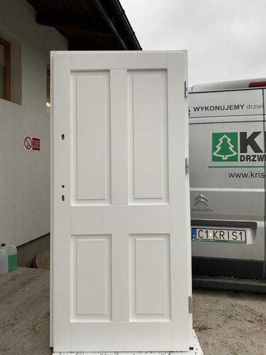 Drzwi zwenętrzne Drewniane OCIEPLANE białe DOSTAWA CAŁA POLSKA
