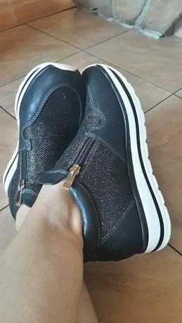 Buty sportowe adidasy sneakersy czarne 36 jenny fairy brokat