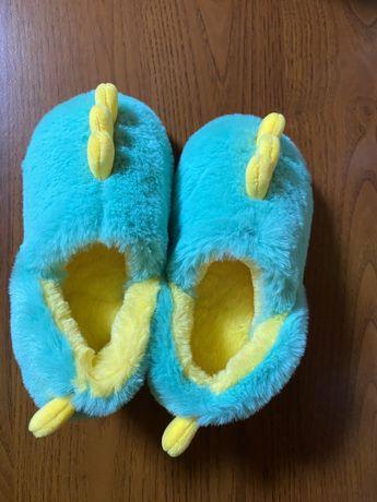 Детские домашние теплые тапочки