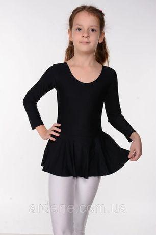 Детский купальник с юбкой для танцев и гимнастики бифлекс
