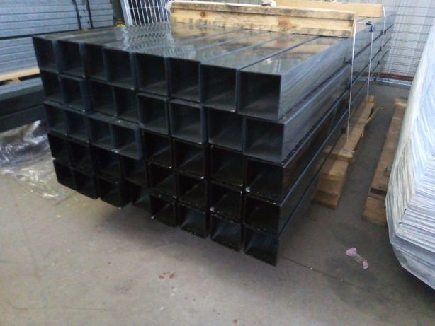 Słupek 80x80x2,2m słupki ogrodzeniowe, ogrodzenia systemowe, panel 3D