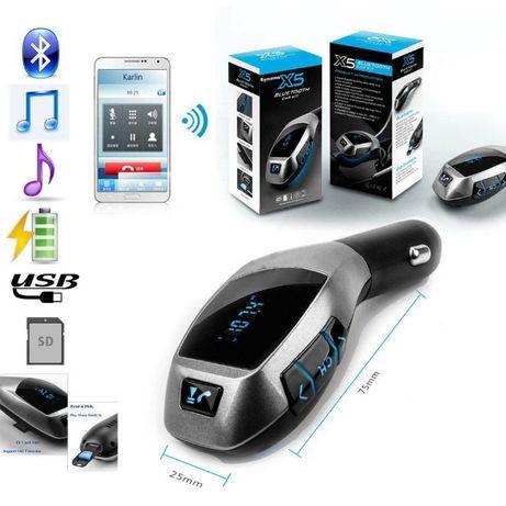 Автомобільний FM трансмітер на bluetooth; модулятор, голосовий зв'язок