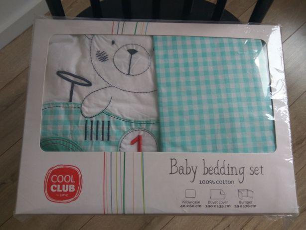 Zestaw pościeli niemowlęcej/dziecięcej ochraniacz do łóżeczka