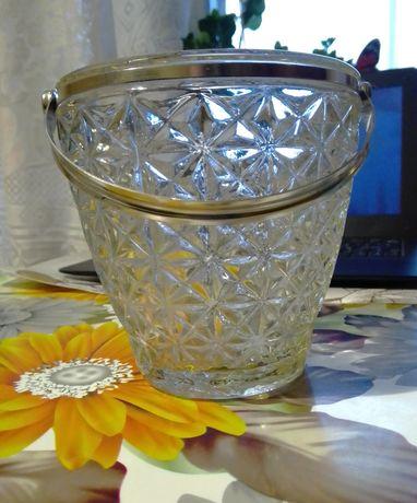 Винтажная хрустальная ваза