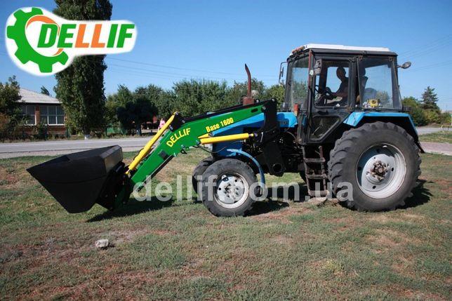 Погрузчик кун на трактор МТЗ -Деллиф Бейс 1600 с ковшом 0.8 куб.м