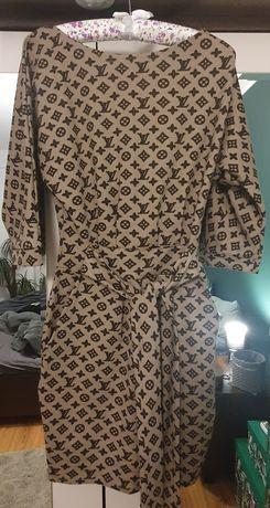 Sukienka imitacji LV
