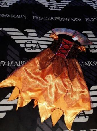 Костюм платье ведьмы ведьмочки злой огненной королевы принцессы волшеб