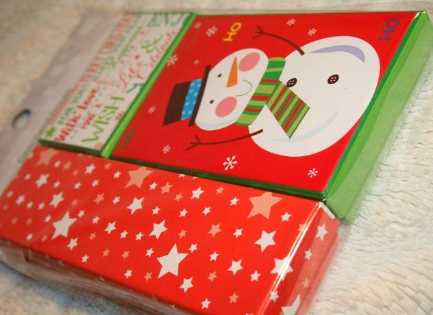 Komplet PUDEŁEK prezentowych świątecznych CZERWONY