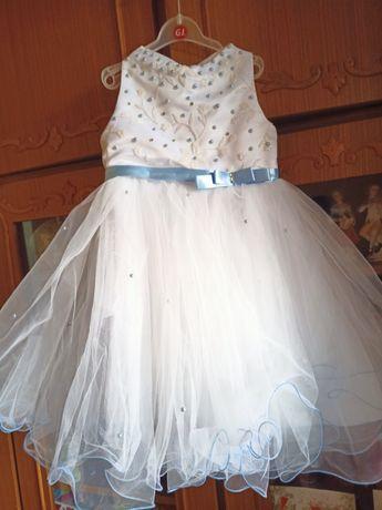 Платье на утренник в садик снежинка