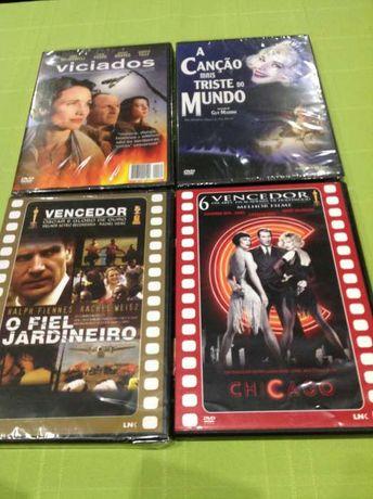 conjunto de quatro filmes em DVD