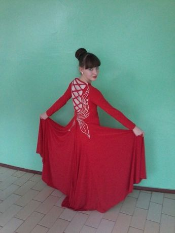 ОЧЕНЬ СРОЧНО!Длинное платье для танца танго