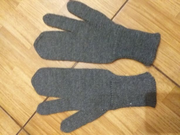 Перчатки шерстяные с двумя пальцами