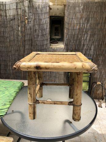 Mesa apoio bambu