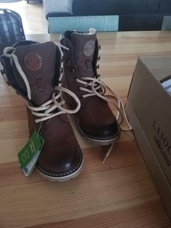 Buty zimowe dziecięce Lasocki r. 33 nowe