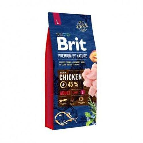 Корм Брит Л Brit Premium  Adult L 15 кг