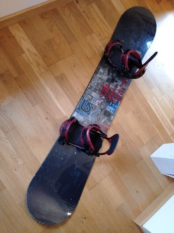 Burton Clash 158 wiązania Ride EX Cartel deska snowboardowa snowboard