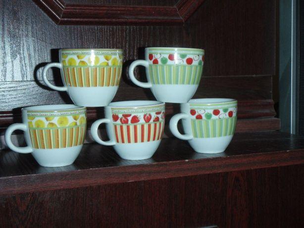 Porcelanowe filiżanki do kawy espresso - 5 sztuk