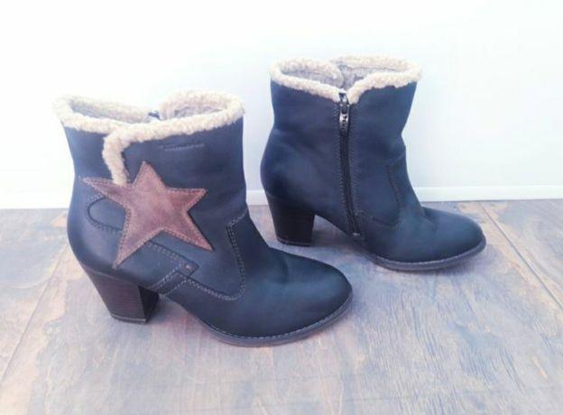 Утепление ботинки Tamaris 38 р, 24.5 см