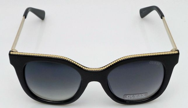 GUESS GF0351 01B okulary CZARNO-ZŁOTE przeciwsłoneczne ray ford ban