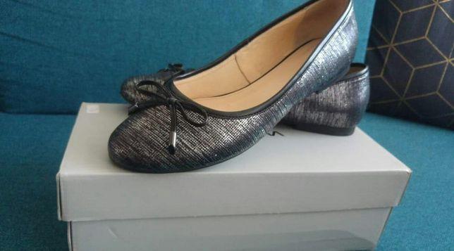 Baleriny skorzane 39 buty damskie
