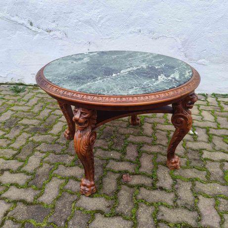 Столик журнальный резной Старинная мебель Диваны кожаные