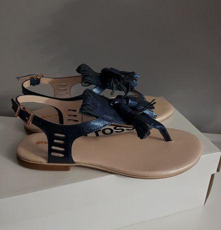 nowe damskie sandały gino rossi skórzane 36 wkladka 23cm