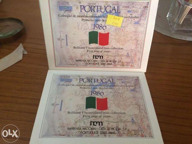 Moedas Portugal 1986