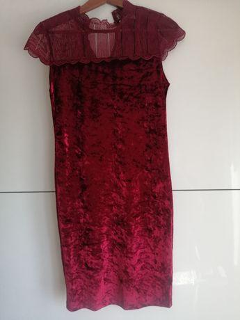 Welurowa sukienka!