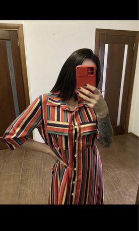 Платье длинное полосатое ТОРГ