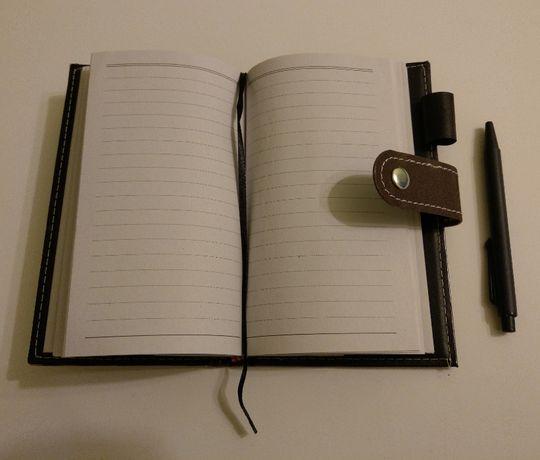 Маленький блокнот с ручкой на кнопке, Записная книжка, Ежедневник