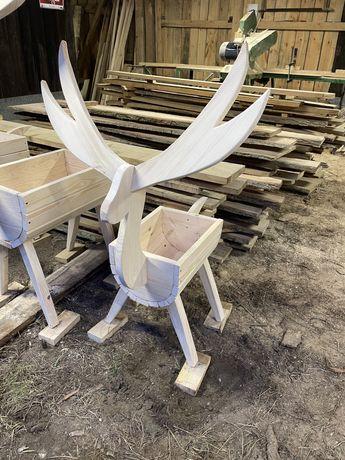 Doniczki typu jelen, ogrod, ozdoby, donica, producent