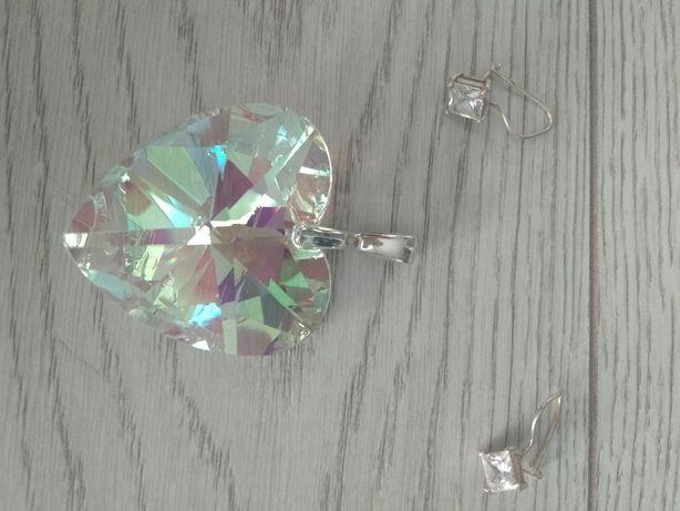 Komplet biżuterii srebrnej próba 925. Serce