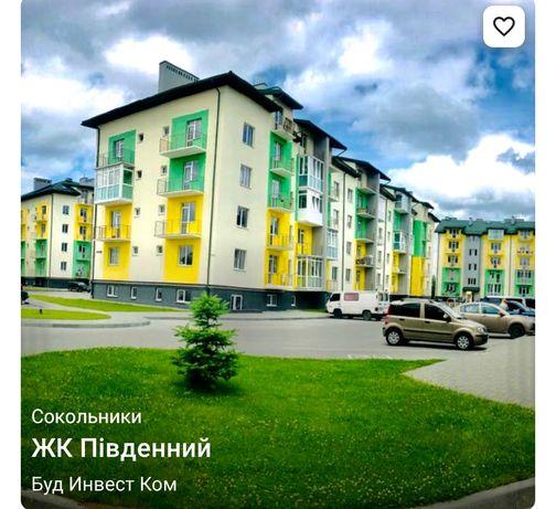 Квартира однокімнатна 46.2 кВ.м. Новобудова.