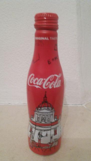Garrafa coleção de alumínio coca cola.