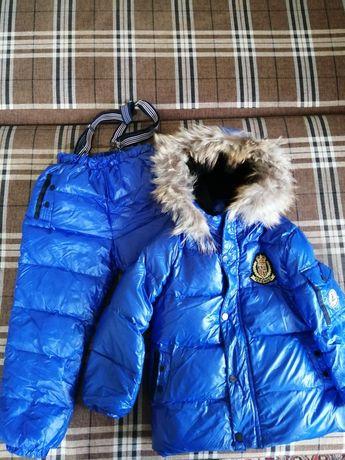 Дитячий зимовий комбінезон + куртка на пуху