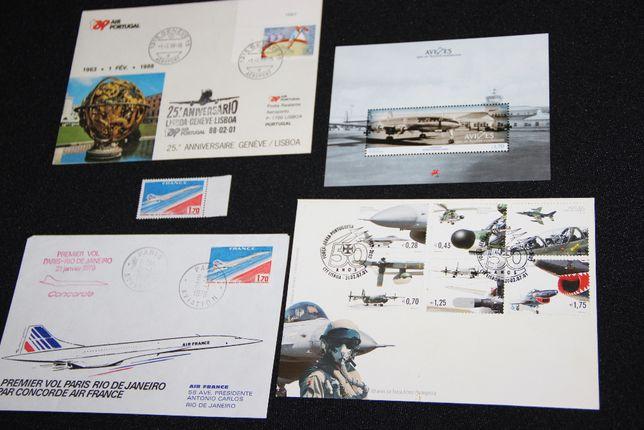 Envelopes carimbados TAP + Concorde