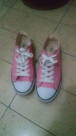 Sapatilhas cor de rosa tam 38