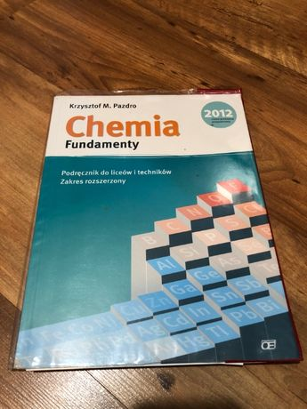 chemia fundamenty podręcznik zakres rozszerzony Pazdro