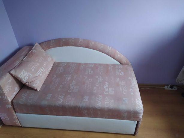 Sofa/tapczan jednoosobowy, rozkładany z poduchą