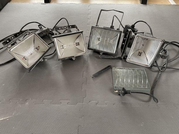 Projektory halogenowe 4 szt. uszkodzone ramki obudowy